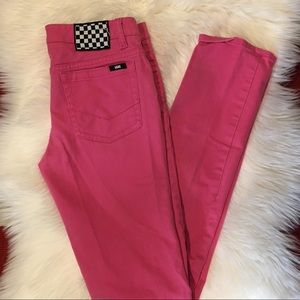 Vans Jeans - Vans Off the Wall Pink skinny jeans size 8